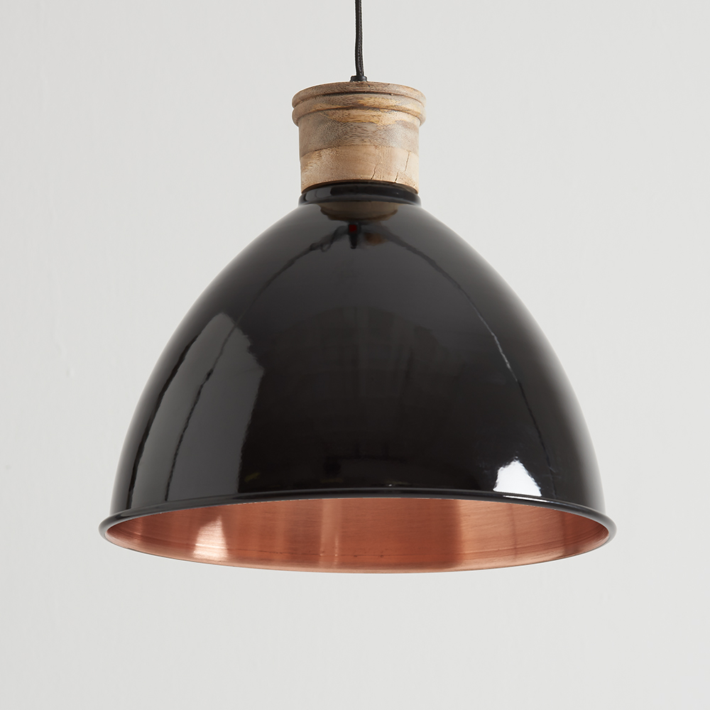 Black And Copper Pendant Lights