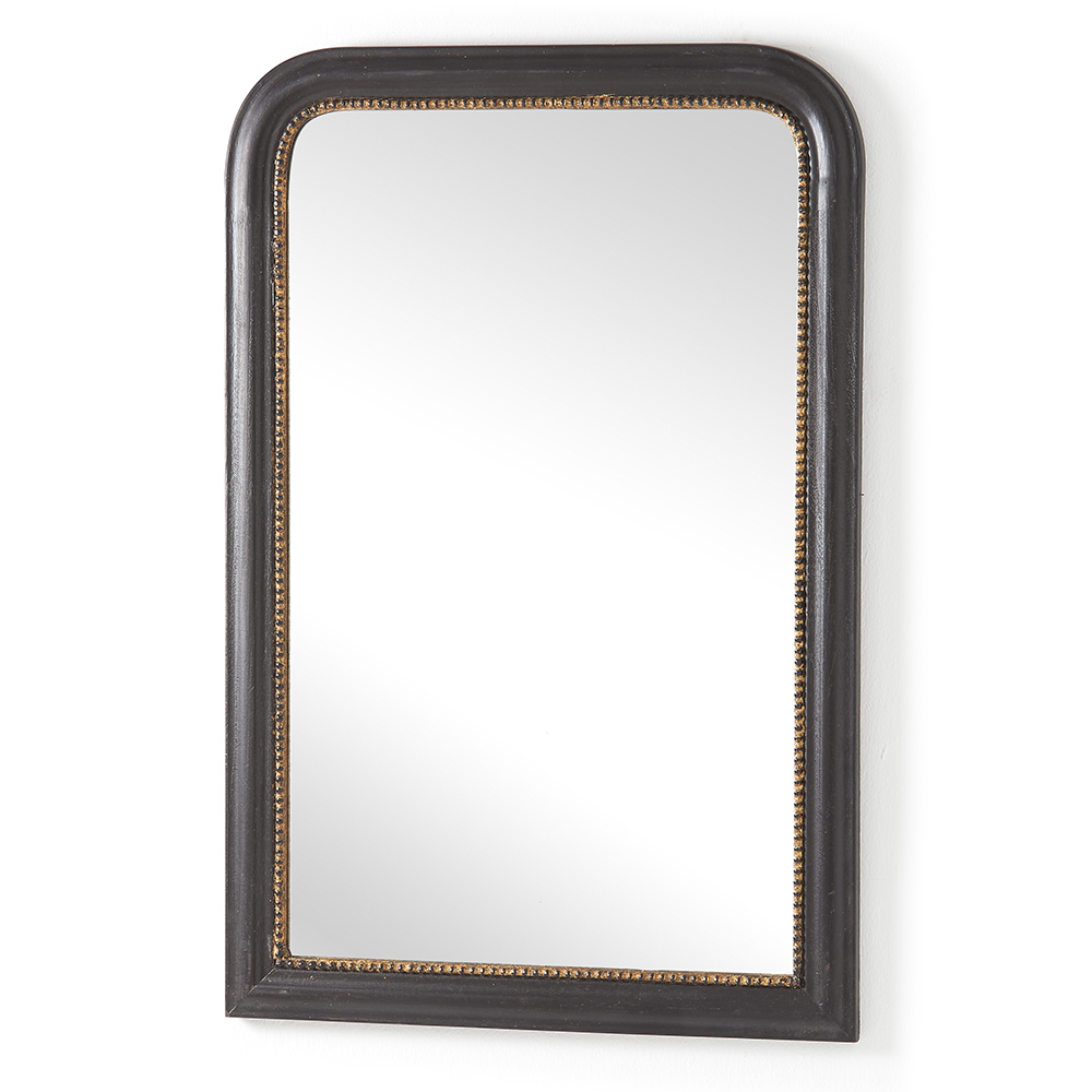 Black and gold wood framed mirror for Wood framed mirrors
