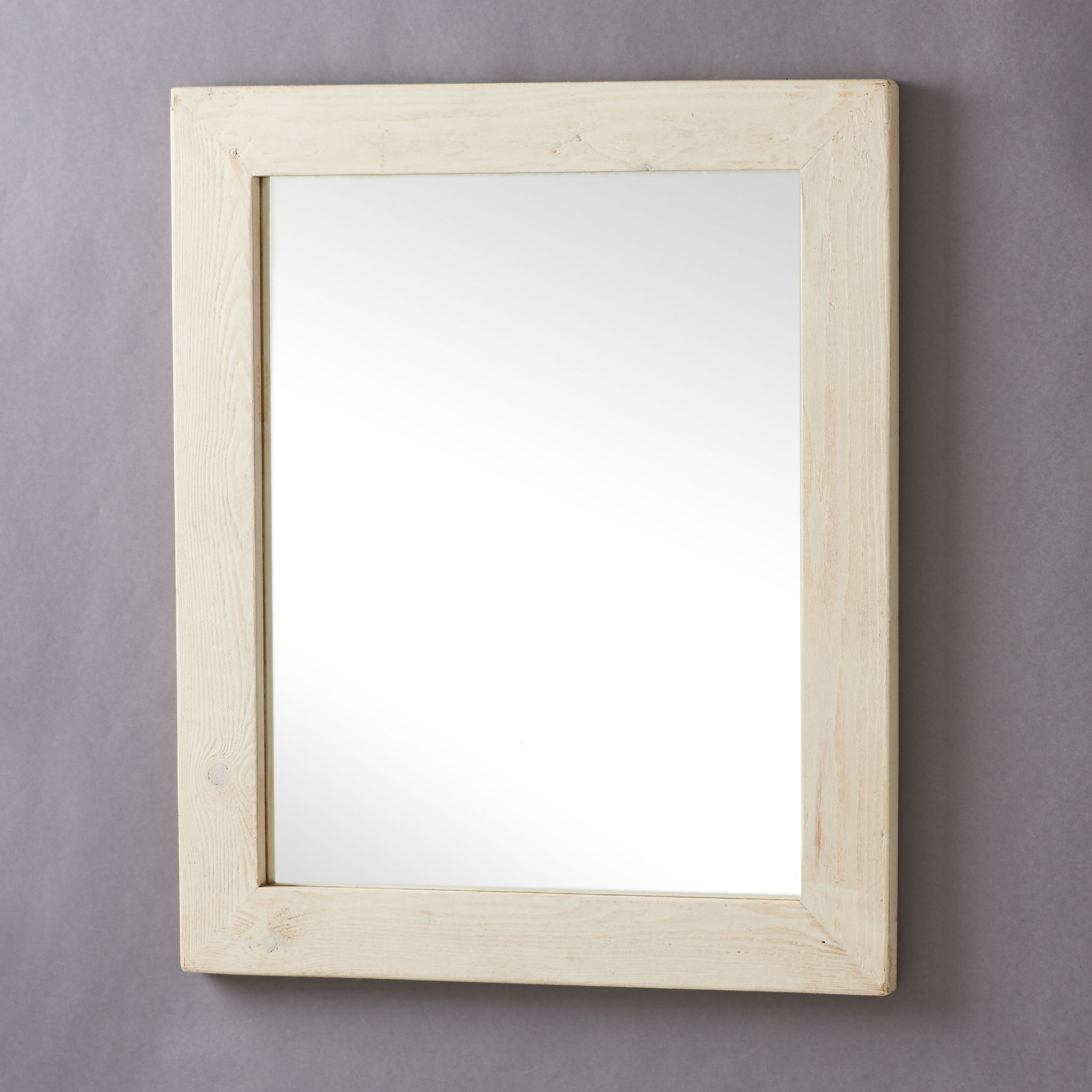 Old white wood framed mirrors for Wood framed mirrors