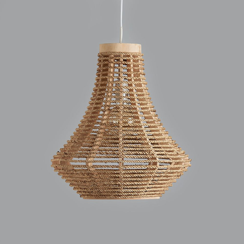 Brunswick rope pendant light aloadofball Choice Image