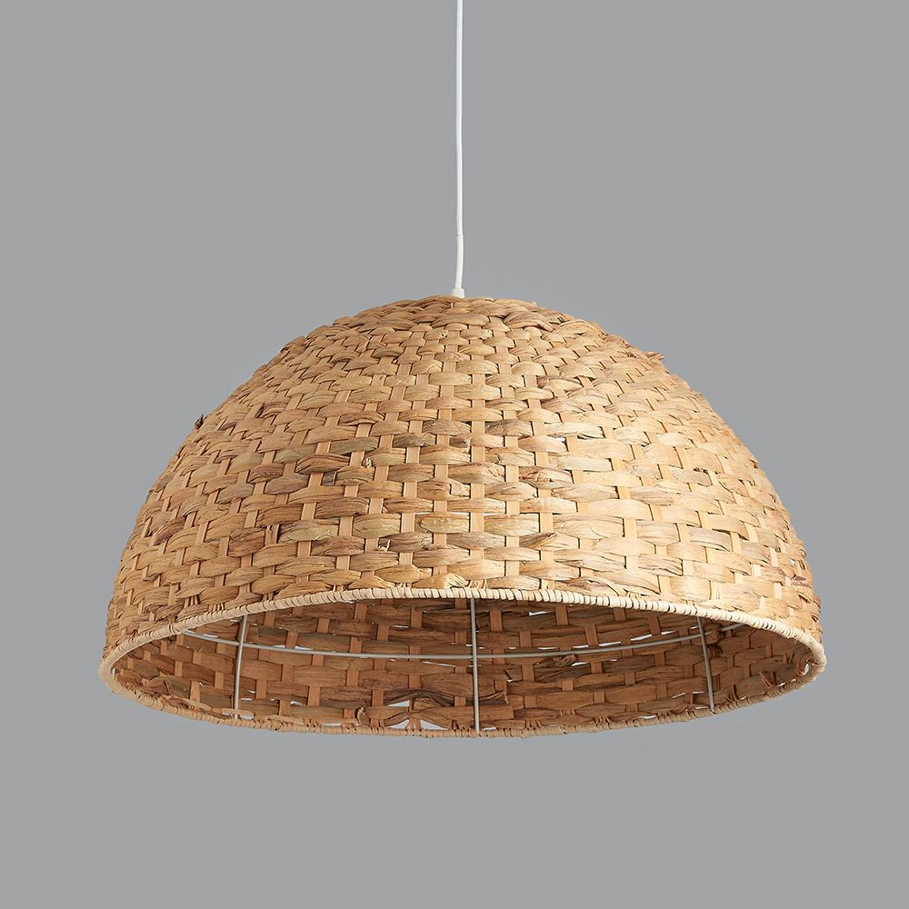 Large Seagrass Dome Pendant Light