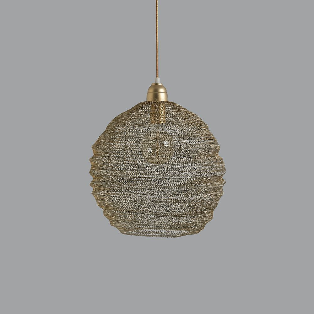 Nina Wire Pendant Light Champagne