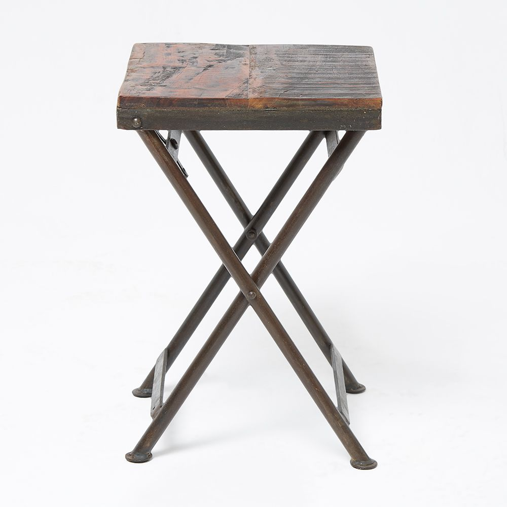 Brand-new Reclaimed Wood Stool Side Table OY64