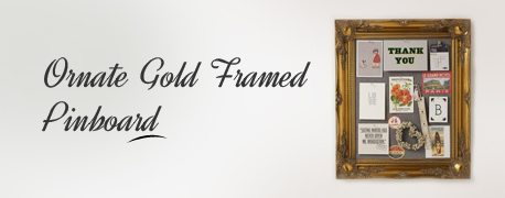 Ornate Gold Framed Pinboard